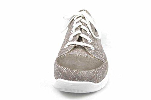 Finn Comfort New Swansea Relax-comfort Scarpe / Loose Inserto Scarpe Da Donna Comode Scarpe Stringate, Beige, Pelle (mirage / Velour) Â Vestito Beige.