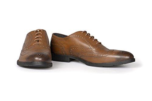 VILEANO Herren Business-Schuhe Budapester Lederschuhe Anzugschuhe Schuhe, aus edlem Leder