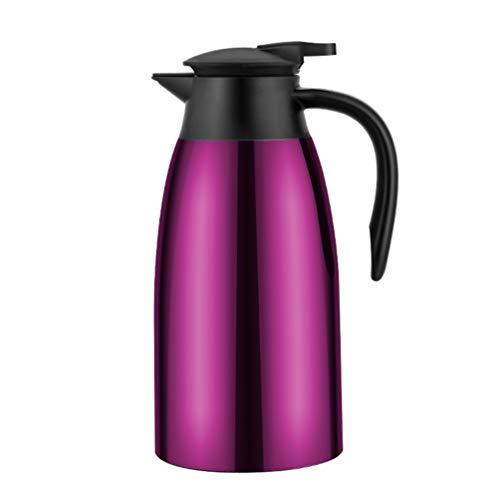 Kaffee Thermos Edelstahl Große Reise Flasche Vakuum Isolierte Outdoor Thermoscoffee Karaffe,Purple -