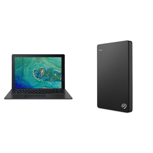 Acer Switch 7 13.5-Inch Convertible Ultrabook (Intel Core i7 Processor, 16 GB RAM, 520 GB SDD, 2 GB GeForce MX150 Graphics, Windows 10 Home) + 2TB Seagate Backup Plus Slim External Hard Drive