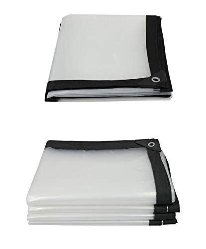 XRFHZT Plane Dicke Plastikfolie transparente Plastikplane regendicht Markisentuch Verdickung Rand Plane regendicht,3mx10m