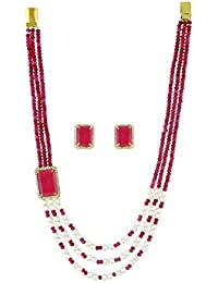 Vishaka Pearls And Jewellers Fancy Party Wear Traditional Necklace Set / Fresh Water Pearl Jewellery Set With...