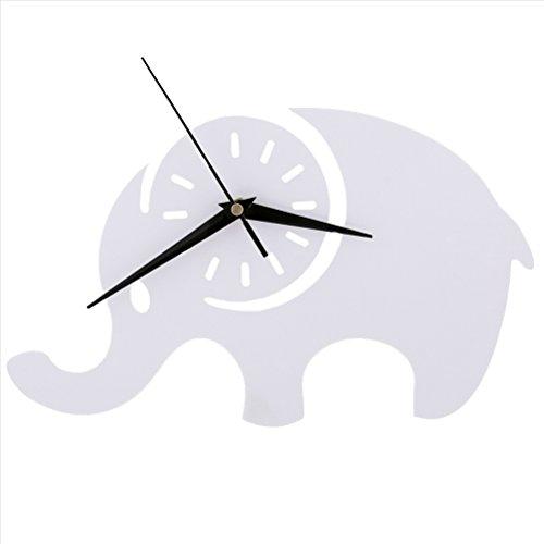guazhong Mute Habitación para niños Elefantes Reloj Pared Sala de Estar Reloj...