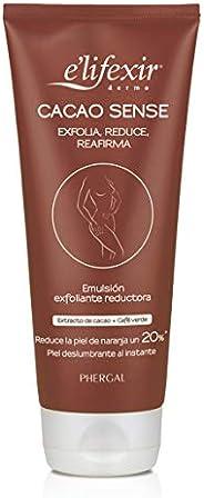 Elifexir Cacao Sense, Exfoliante Corporal, Reductor y Reafirmante, Mejora Luminosidad y Alisamiento, Reduce Gr