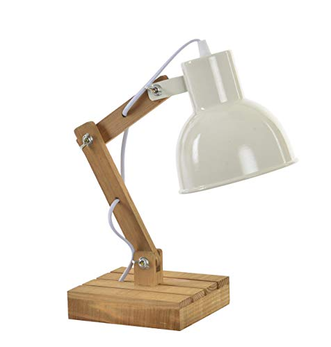 Tischlampe Stehlampe Industrie - Design Atelier, Loft - verstellbar - Materialmix/Holz / Eisen ca 39...