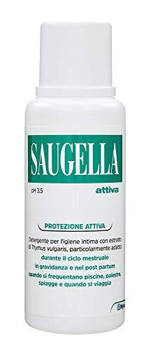 saugella, protezione attiva, detergente per l'igiene intima, a base di thymus vulgaris, 250 ml