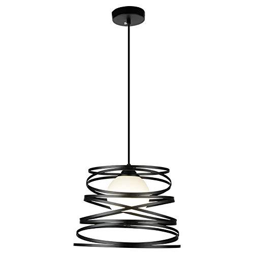 Industrielle Retro Pendelleuchte LED Kronleuchter Edison Loft Kronleuchter Höhenverstellbar Vintage Pendelleuchte Schwarz Eisen Lampenschirm Hängelampe für Wohnzimmer Kücheninsel Esszimmer Bar - Silber Alabaster, Glas