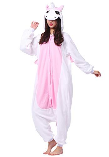 Pigiama anime cosplay halloween costume kigurumi attrezzatura adulto animale onesie unisex, rosa unicorno per altezze da 140 a 187 cm