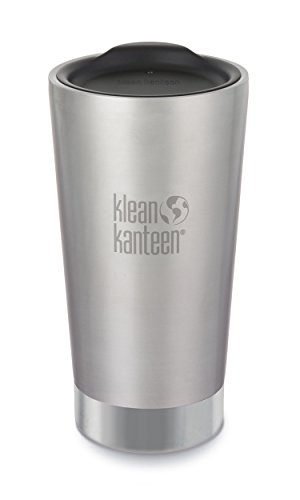 Klean Kanteen Thermo-edelstahlbecher 473 ml Tumbler, Brushed Stainless, 8020096 -