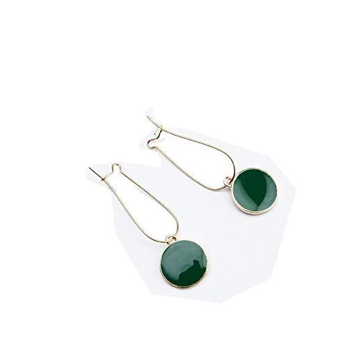 Ohrringe für Damen, einfache grüne Kreise, kleine frische Mädchen, weiblich, Persönlichkeit, wilde Vintage-Ohrringe für Frauen