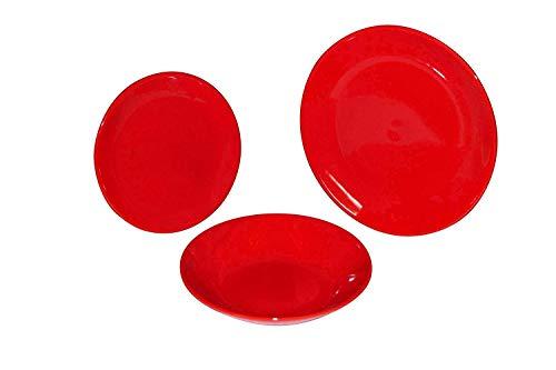 Plat uni différentes mesures frutta rouge