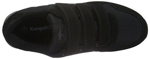 KangaROOS - K-bluerun 701 B, Scarpe da ginnastica Unisex – Adulto Nero (Schwarz (Black/Dk Grey 522))