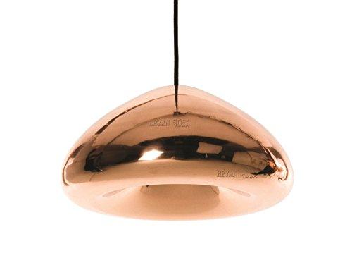larsure Vintage moderne plafonnier lustre lampe suspension lampe la coque rigide Cafe Bar lustre lustre laiton est Verre Crystal PLATING Grande soucoupe volante Verre Diamètre : 30 cm (220–240 V)