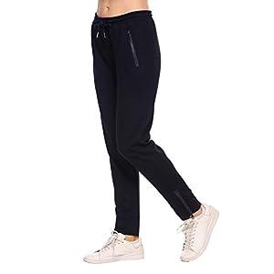 Ekouear Damen Sporthose Jogginghose Lang Sweathose Casual Elastische Taille mit Tunnelzugbund Jogpants mit Taschen