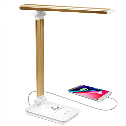 Lámpara Escritorio LED Lámpara Mesa USB regulable