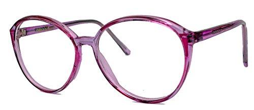 amashades Vintage Nerdies Damen Modebrille 70er 80er Jahre Pantobrille filigrane Streberbrille clear...