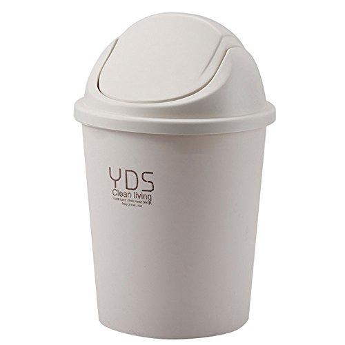 Trash can Grüner Kunststoff-Küche Bad Mülleimer Deckel automatisch Den Aufbewahrungsbehälter schließen versiegelten Brief Design Recycling-Behälter Leicht zu Reinigen, Tragbare (Kapazität: 8L)