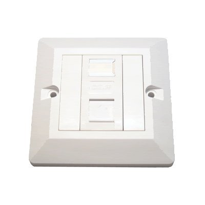 CDL Micro Single Wall Face Plate CAT6 RJ45 Gigabit 10/100/1000 Netzwerk LAN Frontplatte, - weiß -