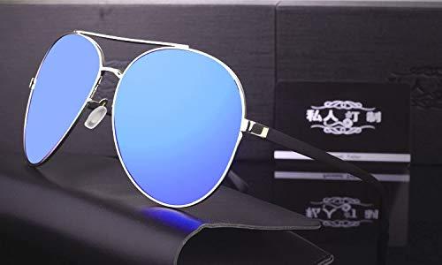LKVNHP Hohe Qualität Riesige Übergroße Sonnenbrille Männer Polarisierte Gespiegelte 168Mm Sonnenbrille Für Mann Fahren Hd Polaroid Extra Große Breite GesichtBlau