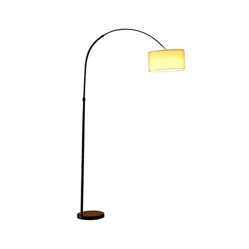 Floor Stand Lights - Moderne Camber Hanging Shade Angeln Form Schwarz Stehlampe Marmor Base-Tall Pole Ständigen Industrial Up Light Downlight Lampe - Design Fixture Lighting