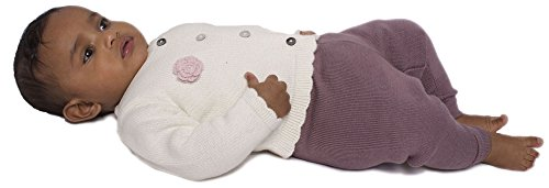 Viddia - Maglione -  bambina Natural Cream and Pastel Pink 3 - 6 mesi