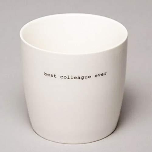 Sögne Home - Kaffeetasse, Becher, Henkelbecher - Porzellan - Best Colleague Ever - 300 ml - mit Schreibmaschinen Typo