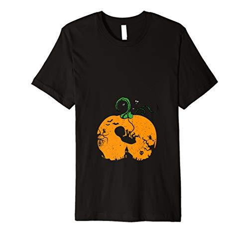 Halloween Kürbis Mutterschaft Schwangerschaft T-Shirt (Gruselig Schwangerschaft Halloween-kostüme)
