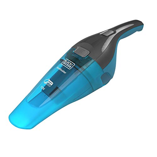 Black+Decker 2-in-1 Nass/Trocken-Handsauger (7.2V, Gummilippe für Nassreinigung aufsteckbar, transparenter Schmutzfangbehälter, inkl. Ladestation mit Wandhalterung, Bürste & Gummilippe) WDC215WA