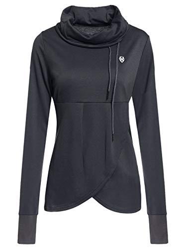 Haiyemao Schnelltrocknende Sportbekleidung Petal Hem Drawstring Besticktes Sweatshirt Sportswear Damen (Size : L) (Jumper Bestickte)