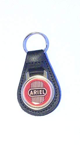 Unbekannt Ariel Schlüsselanhänger Leder Acryl Schwarz - Ariel Leder