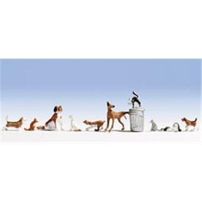 Noch 45715 - Hunde und Katzen Figuren