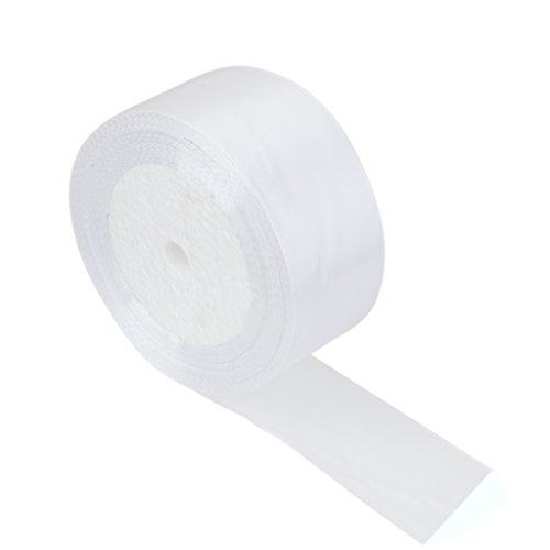 Satin-Schleifenband Polyester Dekoration Partyzubehör Hochzeit Zubehör Couture handwerkliche-Weiß