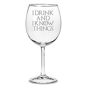 """Copa de vino inspirada en Juego de Tronos""""I Drink and I Know Things"""" 2"""