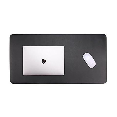 Tapis de Souris, Skitic Ultra-lisse Cuir PU Gaming Mousepad (800x400x2mm) Antidérapant Surface pour ordinateur, PC et Ordinateur Portable – Clavier Tapis