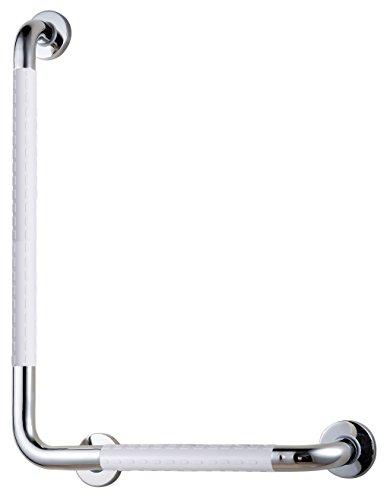 VELMA - HB3202W - WHITE 90° - Stabiler Stützgriff - Haltegriff - Wannengriff - Extrem rutschfest und sicherer Halt durch den hochwertigen antibakteriellen Kunststoff - Edelstahl - 100 % rostfrei - Premium-Qualität !