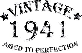 Mister Merchandise Tasche Vintage 1941 - Aged to Perfection 74 75 Stofftasche , Farbe: Schwarz Schwarz