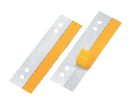 Veloflex 2002100 HEFTFIX Heftstreifen, Abheftstreifen, 105 mm lang, 100er SB-Packung, selbstklebend, glasklar