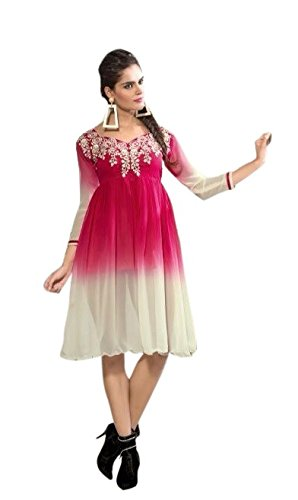 Limemode Women's Georgette Tunic ( WAKT000078_Pink_X-Large )