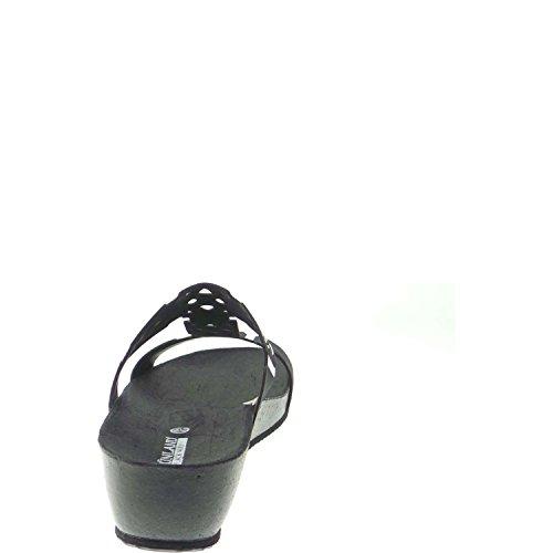 Grunland CB0392-70 Mules Femme Suède Noir Black