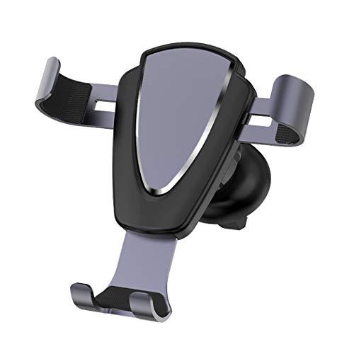 ZYNENMetall Handy Halterung Auto Outlet Schwerkraft Sensing Auto Halterung für iPhone Xr, Xs, X, Samsung Hinweis 9, S9, Huawei, Sony, HTC,Purple -