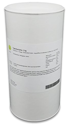 Tapiokastärke, Tapioka, Stärke, Mehl 1 kg Dose, Verdickungsmittel, Bindemittel