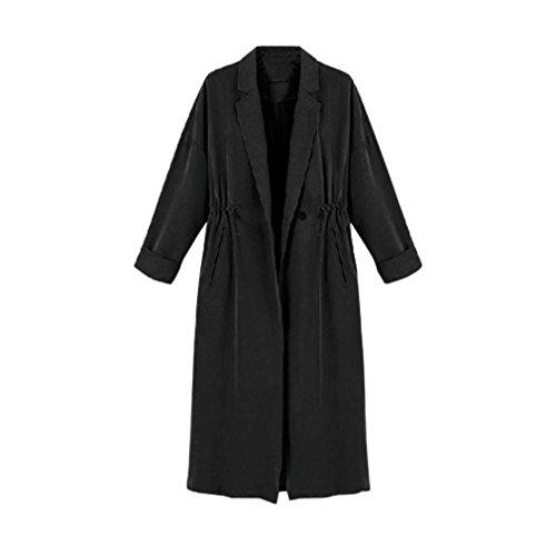 Manteau, Tonsee Femmes Windbreaker Casual Cardigan longues Hauts Manteaux Noir