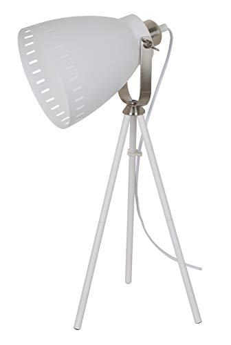 Solight Tischlampe Torino, Lampenstativ, 52cm, E27, weiß Stahl 60 W, Large -
