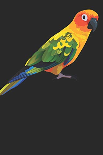 Journal: Sun Conure Journal Lined Paper (Parrot Conure Sun)
