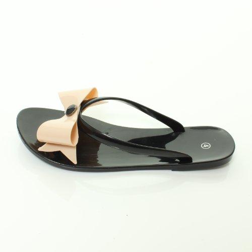 Tilly Shoes  MSD08, Mädchen Dusch- & Badeschuhe Schwarz