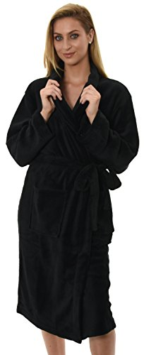 - 31FTw2 AaAL - Womens Knee Length Corel Fleece Wrapover Dressing Gown, 7 Colours, Small – XXL