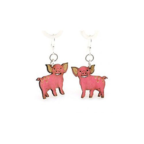 Green Tree Jewelry Pig Earrings with Gift Box