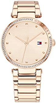 Tommy Hilfiger Women's Light Rose Gold Dial Ionic Plated Carnation Gold Steel Watch - 178