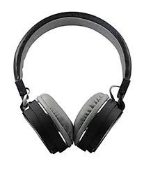 JOKIN SH-12 Stretchable Foldable Wireless Bluetooth Headphones Comes with Inbuilt Microphone and SD Card Slot Compatible with All Androids Smartphone and Apple iPhone iOS Phone (Black)