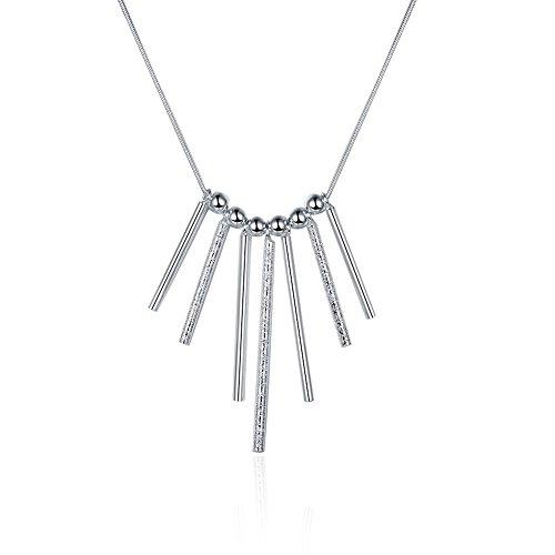 New Fashion NYKKOLA gioielli placcati argento Sterling 925, motivo: bellissima collana con ciondolo a forma di